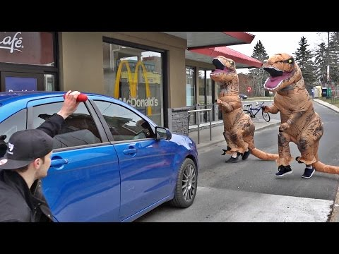 T-REX RUNNING MAN CHALLENGE (PUBLIC PRANK) from YouTube · Duration:  2 minutes 38 seconds