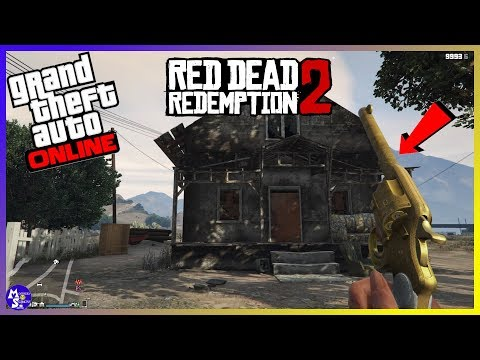 GTA 5 - Read Dead Redemption 2 Golden Double Action Revolver Treasure Hunt 1.42 PS4/XboxOne