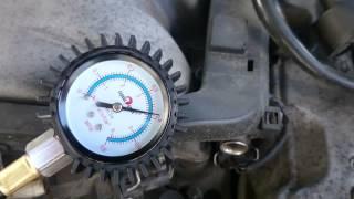 Замер давления топлива на Mercedes w210 M112