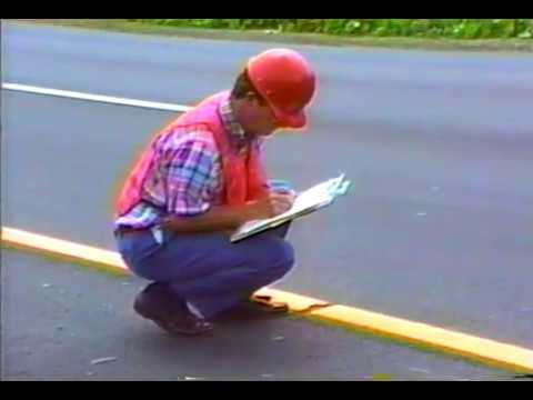 Pavement Marking Inspection Thermoplastic