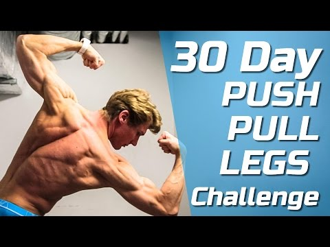 30 DAY PUSH - PULL - LEGS WORKOUT WEIGHT LIFTING CHALLENGE! [200 People JOINED!]