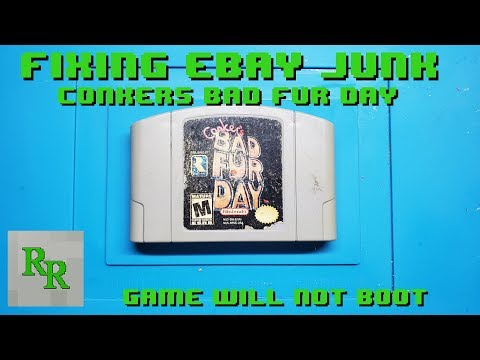 N64 Game Won't Boot - Fixing Ebay Junk - Conker's Bad Fur Day