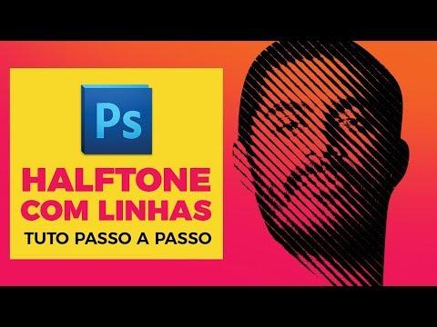 HALFTONE COM LINHAS NO PHOTOSHOP (Tutorial) thumbnail