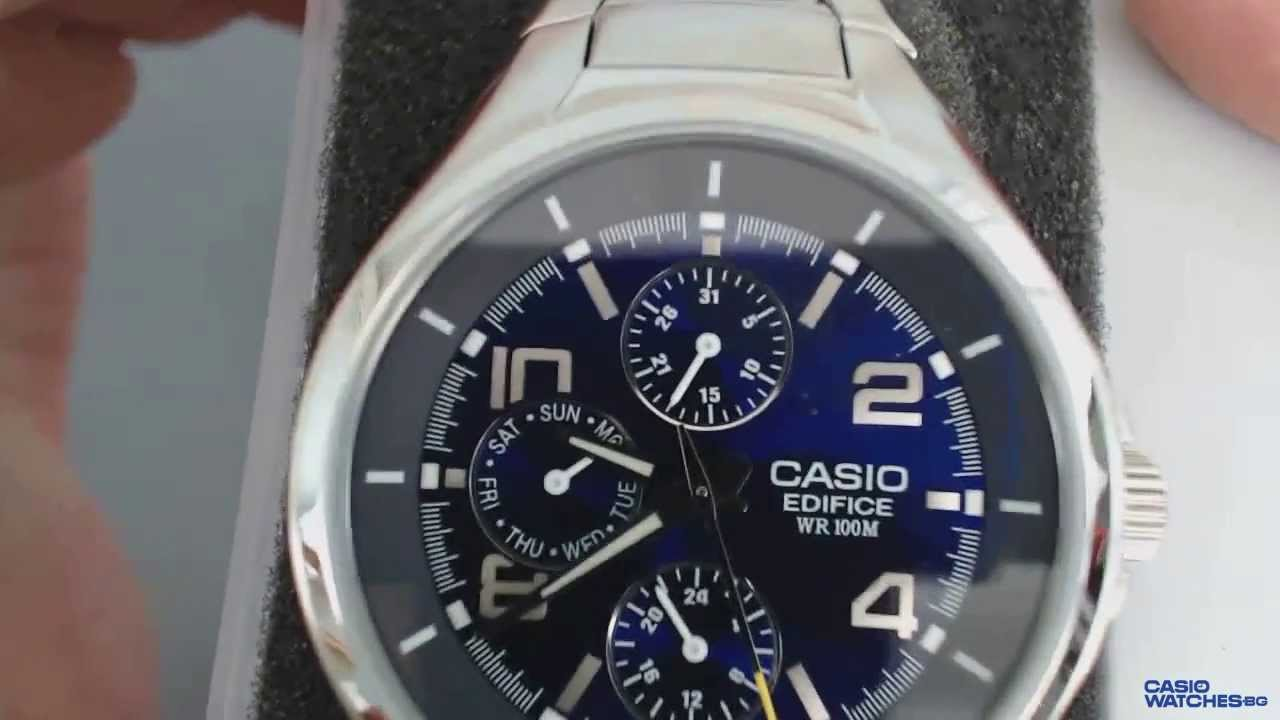 5b10652f1877 Мъжкки часовник Casio Edifice EF-316D-2A - YouTube