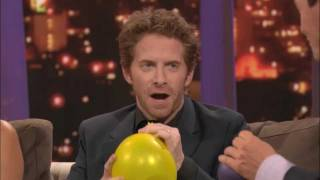 Repeat youtube video ROVE LA - Seth Green, Olivia Munn & Michael Weatherly on helium