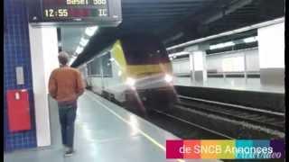 SNCB Annonces Vocales : Train pour Basel SBB en gare de Bruxelles-Luxembourg