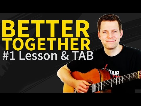 How to play Better Together Guitar Lesson & TAB - Jack Johnson