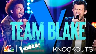 Team Blake's Cam Anthony and Connor Christian Fight It Out Through Song - The Voice Knockouts 2021