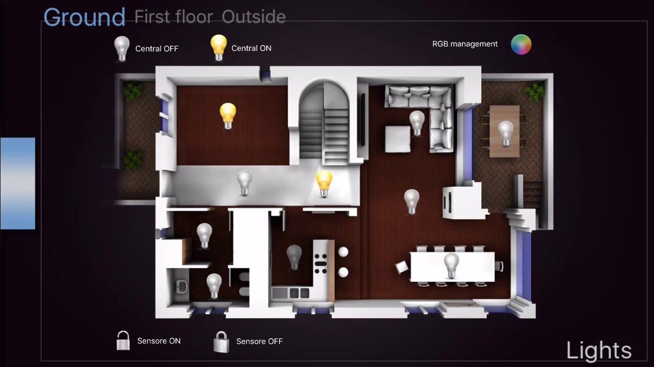 vyrox knx smart home app youtube. Black Bedroom Furniture Sets. Home Design Ideas