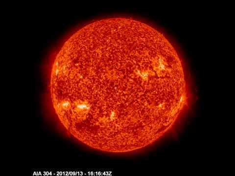 El Sol visto por SDO (Solar Dynamic Observatory - Telescopio AIA 304 A°)  (2)