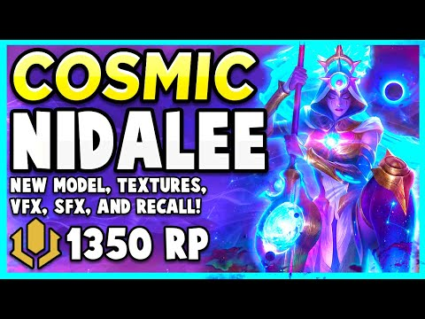*NEW* COSMIC HUNTRESS NIDALEE POUNCES INTO ACTION WITH ELEGANCE - League of Legends PBE Gameplay