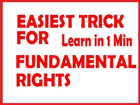 Fundamental Rights of Indian Citizen with tricks @ Mahalakshmi Academy