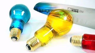 DIY Edible Light Bulb Jelly ! COLORS BULB GUMMY & Coca-cola Jello | MonsterKids