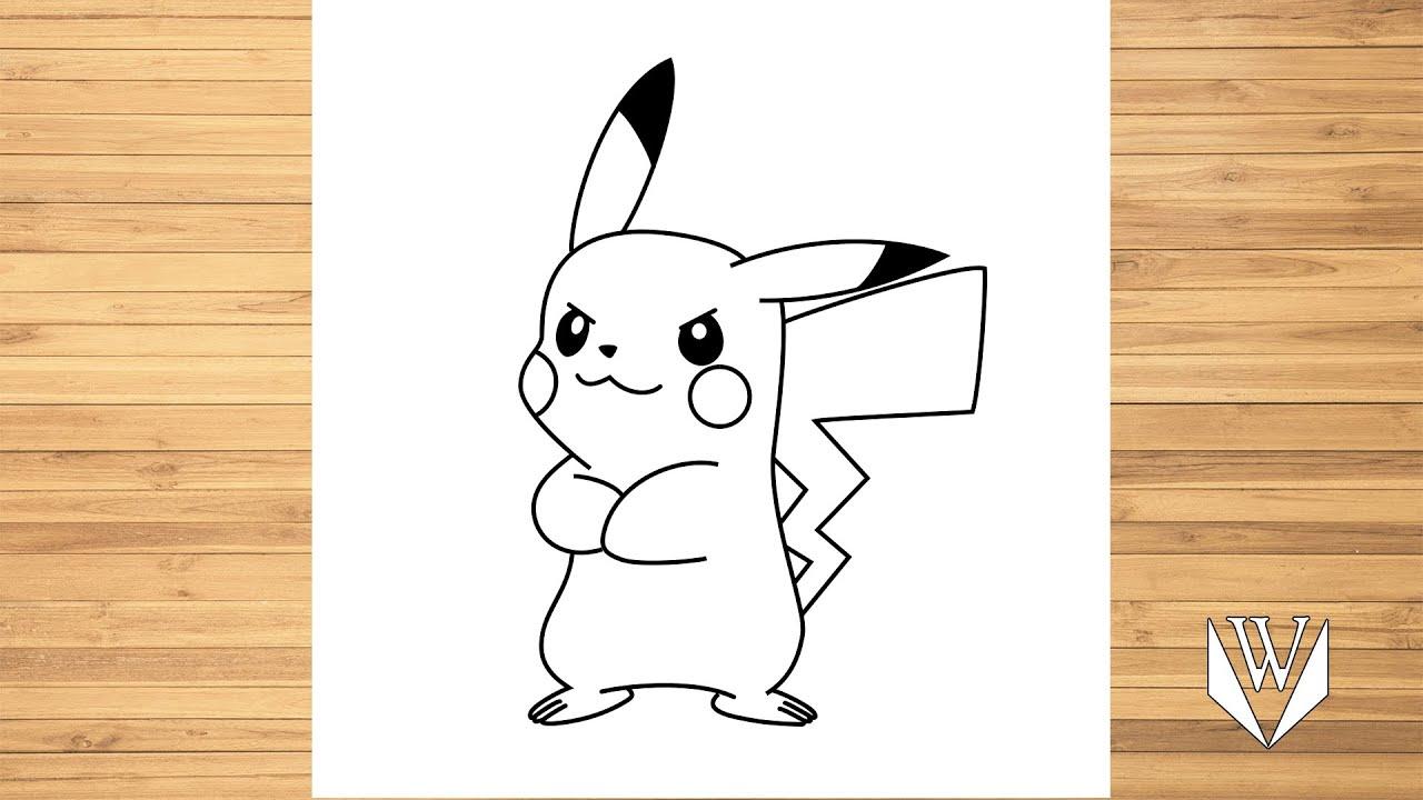 How to draw Pokemon Pikachu, Step by step, Easy Draw ...