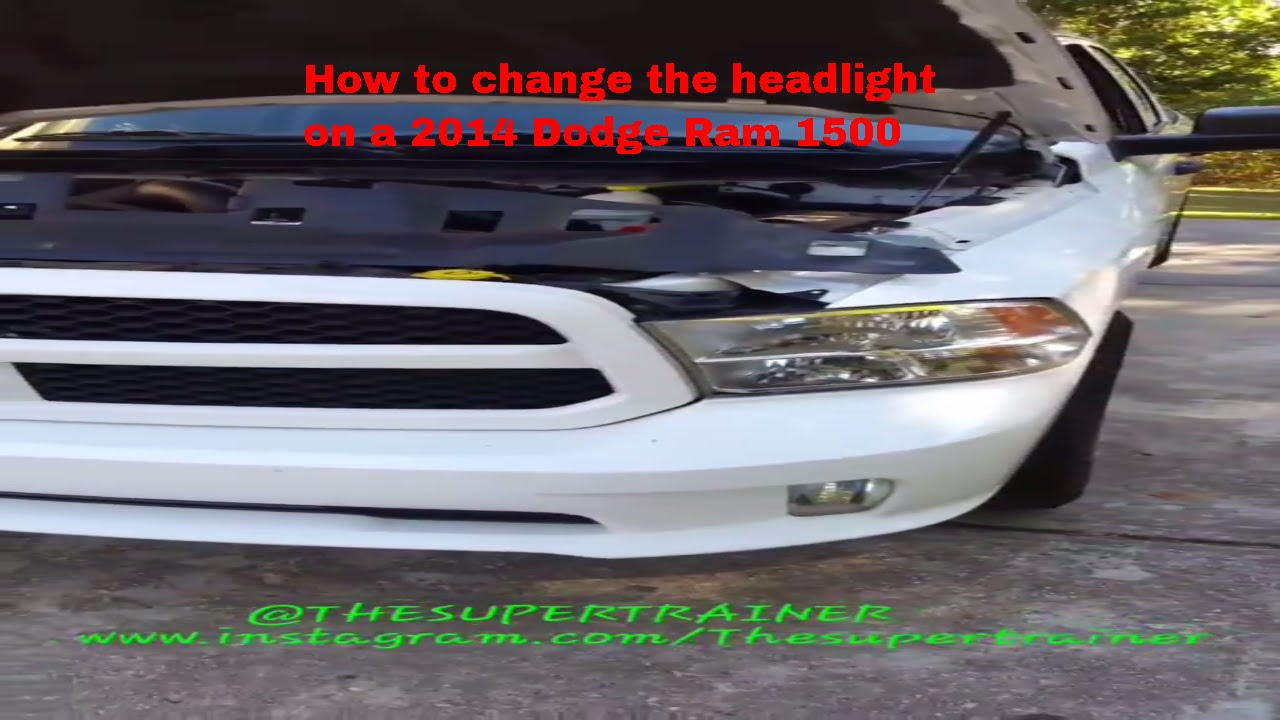 how to change the headlight on a 2014 dodge ram 1500 [ 1280 x 720 Pixel ]