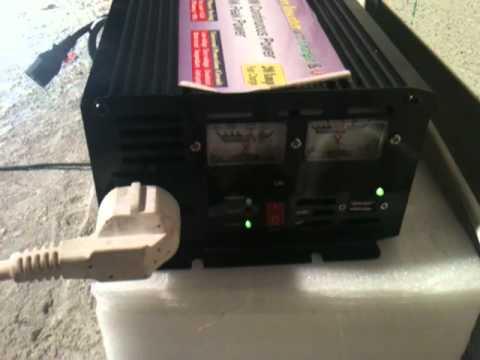 power inverter 12v 220v 1500w 3000w peak charger ups kp inv12v ups youtube. Black Bedroom Furniture Sets. Home Design Ideas