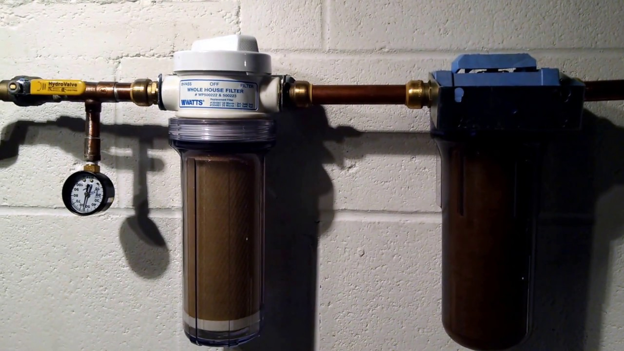 Well Water Filters Spindown Sediment Carbon Block And