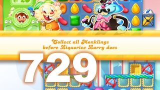 Candy Crush Jelly Saga Level 729 (No boosters)