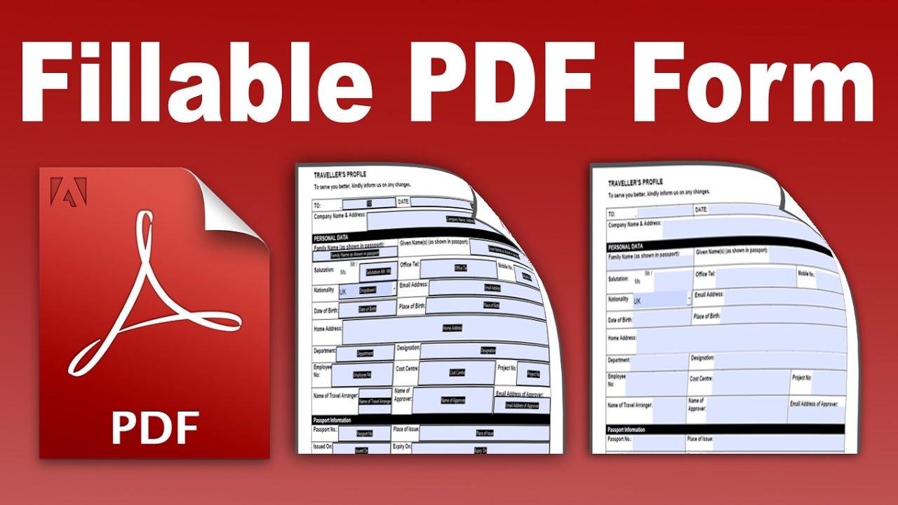 Fillable PDF Convert and create an existing form into a