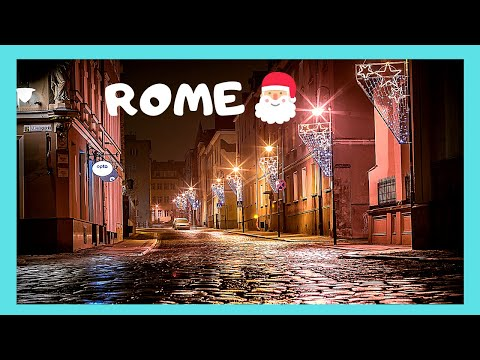 ROME, CHRISTMAS in the ancient neighborhood of Trastevere, ITALY