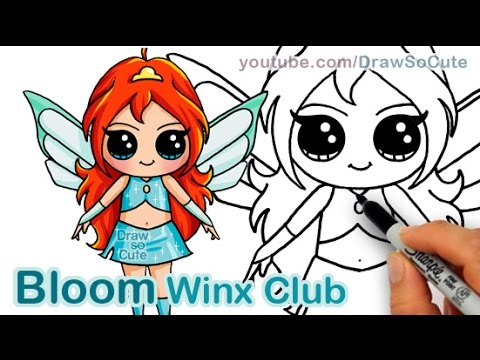 How To Draw Fairy Bloom From Winx Club Cute Step By Step Youtube
