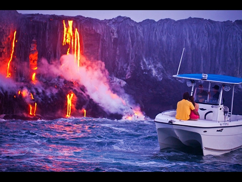 Hawaii Volcanoes National Park : Island collapse into ocean