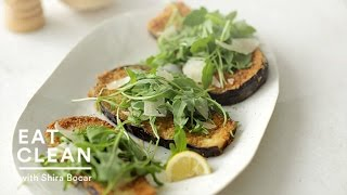 Panko-crusted Eggplant With Arugula And Parmesan - Eat Clean With Shira Bocar