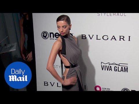 Gorgeous in gray! Angela Sarafyan at Elton John Oscar party  Daily Mail