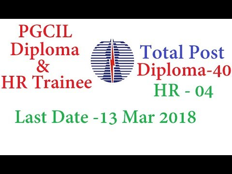 JOB Alert - Recruitment  POWERGRID | A Government of India PSU | 40 Diploma Trainees 4 HR Trainees
