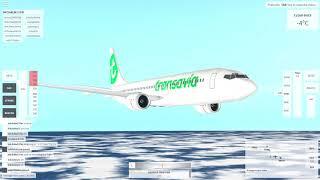 Roblox. Velocity Flight Simulator. lot TNCC/TXKF linia Transavia Boeing 737-800