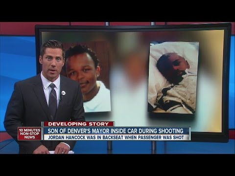 Son of Denver's mayor inside SUV during shooting