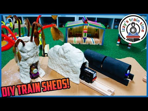 Thomas and Friends | DIY TRAIN TUNNELS! Fun Toy Trains for Kids!