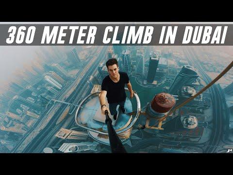 Climbing the Almas Tower in Dubai *360 METERS* 🥴