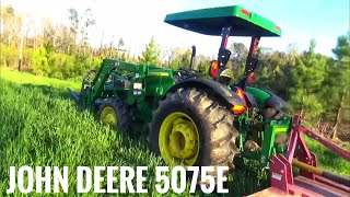 John Deere 5075E first bushhogging of 2018