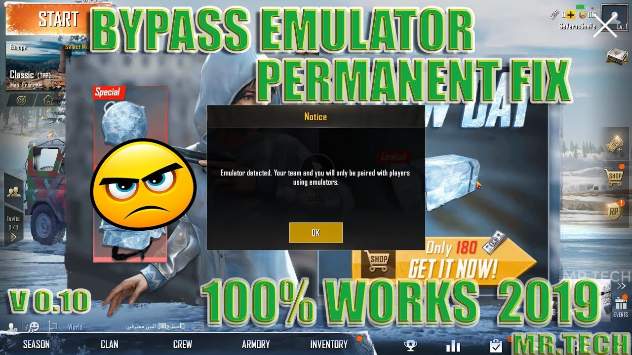 PUBG Emulator detection bypass permanently Updated version 0 10 5
