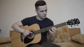 Изгиб гитары желтой (на гитаре)