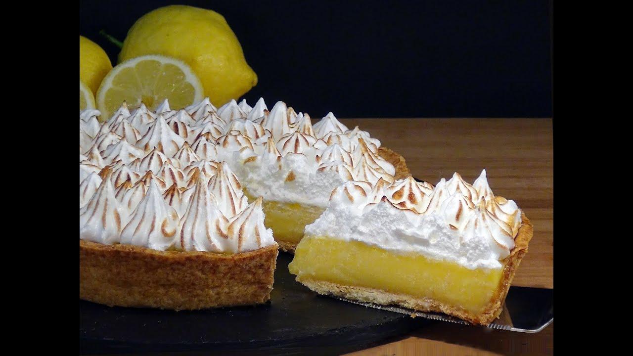 Lemon Merigue Cake con Meringa Svizzera (ricetta tradizionale USA, crostata meringata al limone)