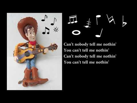 Karaoke Old Town Road Guitar Fingerstyle   + Lyrsic  -  Woody from toy story 4