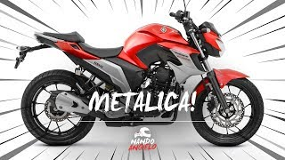 Nova Fazer 250 2020 | Vermelho Metálico 🔴 e FIM da cor branca ⚪