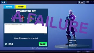 So the new gifting system is horrible, here's why . . . (Fortnite Battle Royale)