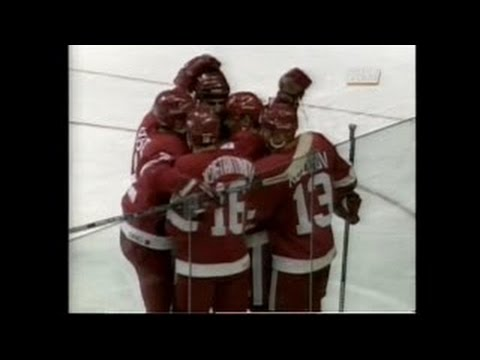 Wings @ Flames 10/27/95 Highlights (Russian 5 Debut)