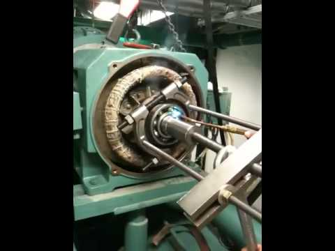 Motor bearing replacement youtube for Electric motor shaft repair