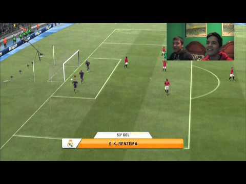 Partido FIFA 13 - Real Madrid(mirza) vs Manchester United(bruno) 2.0!
