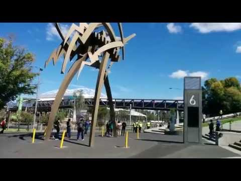 At the entrance of Melbourne Cricket Ground (MCG)