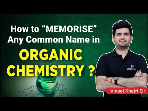 """Memorise"" any common name in Organic Chemistry"
