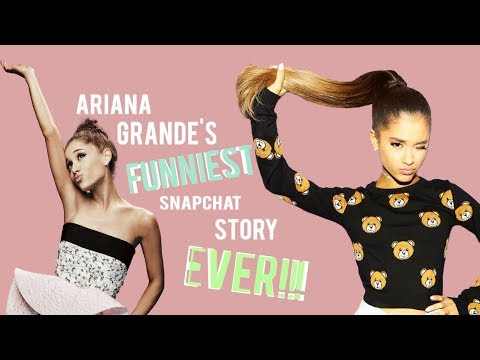 Ariana Grande's funniest snapchat story...
