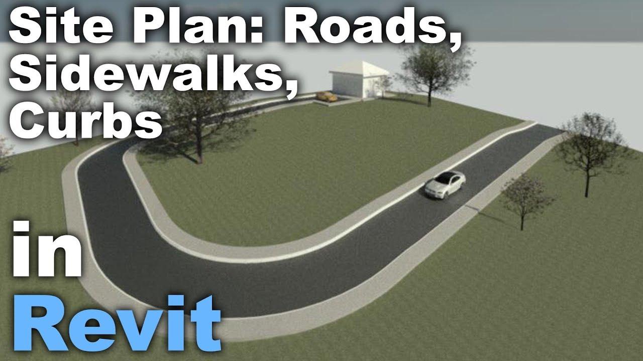 Site Plan in Revit - Roads, Sidewalks, Curbs - Tutorial