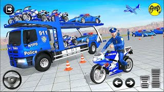 Police Bike Transport Truck 2020 (Offroad Mode) - Android Gameplay FHD screenshot 4
