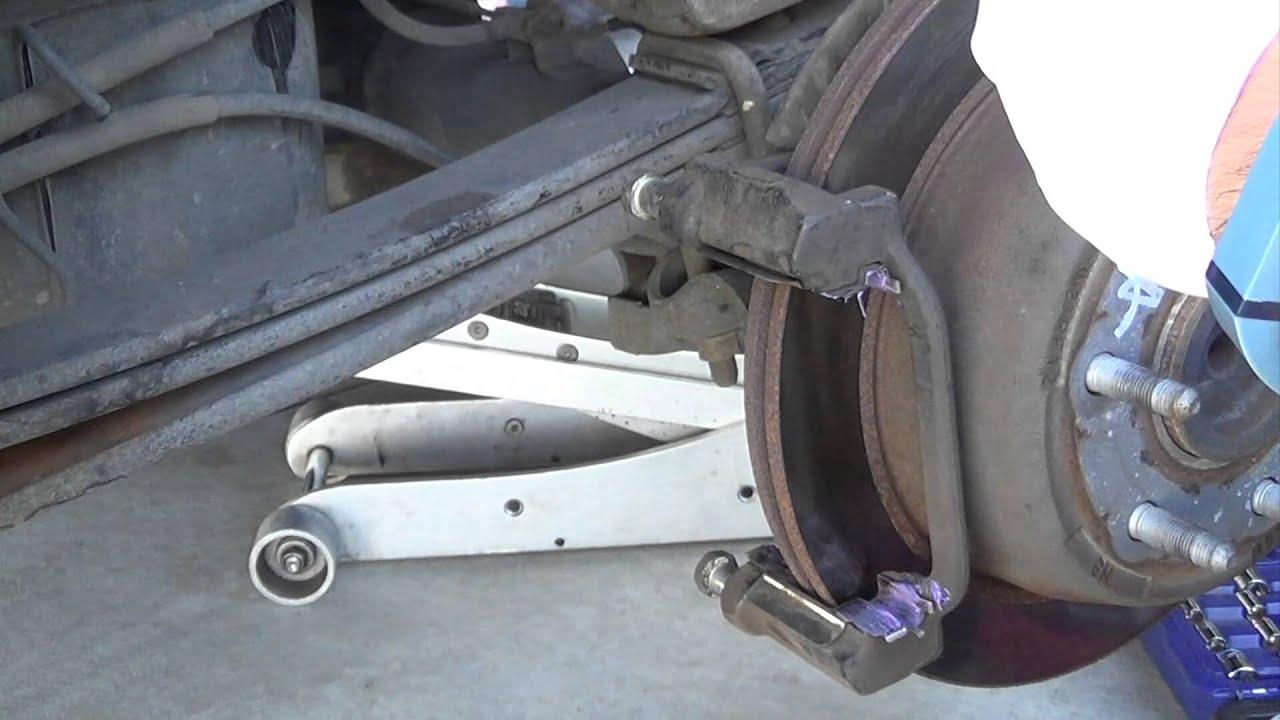 How to change rear brakes 2004 Chevy Silverado  YouTube