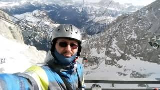 2017.02 Marmolada zjazd ze szczytu 3240 m.n.p.m